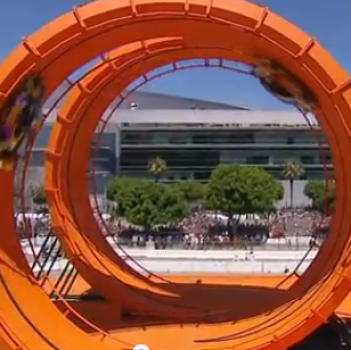 That's Hot! Check Out a Real-Life Hot Wheels Stunt! (VIRAL VIDEO)