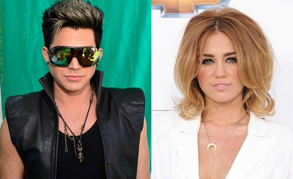 Adam Lambert and Miley Cyrus