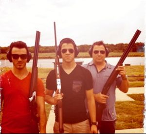 nick jonas, kevin jonas, married to jonas, jonas brothers, jonas brothers gun club, jonas brothers guns, jonas gun club, nick and kevin jonas gun club photo, nick jonas gun club, kevin jonas gun