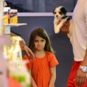 Katie Holmes Tell Suri 'No' to a Puppy and She Cries! Can You Blame Her?
