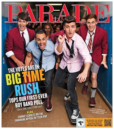 Big Time Rush Parade Magazine Cover