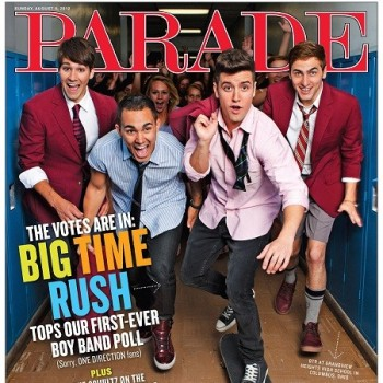 Big Time Rush: Voted Best Boy Band by Parade Magazine!