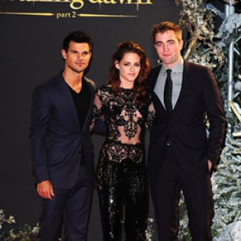 Robert Pattinson, Kristen Stewart, and Taylor Lautner Arrive at 'Breaking Dawn Part 2' Premiere in London