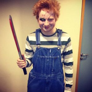 ed sheeran, ed sheeran chucky, ed sheeran halloween costume, ed sheeran chucky photo, ed sheeran chucky pic, ed sheeran tweets halloween photo, ed sheeran halloween photo