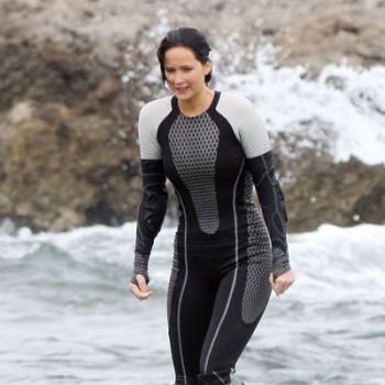 Jennifer Lawrence and Sam Claflin Film 'Catching Fire' in Hawaii
