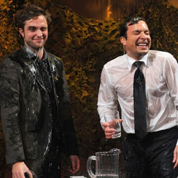 Robert Pattinson Gets Soaked on Jimmy Fallon, Shows Off His Comedic Side