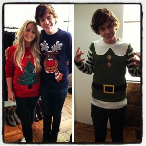 harry styles, harry styles christmas sweaters, harry styles sweater, harry styles rudolph sweater, harry styles elf, haylor