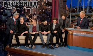 one direction, one direction on letterman, one direction david letterman, niall horan, niall horan dustin hoffman, dustin hoffman one direction