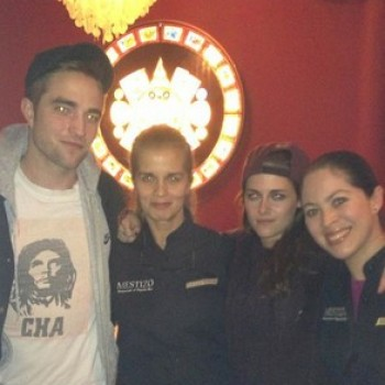 Robert Pattinson and Kristen Stewart's Mexican Date Night in London!