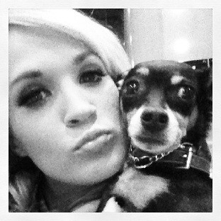Carrie Underwood and her dog