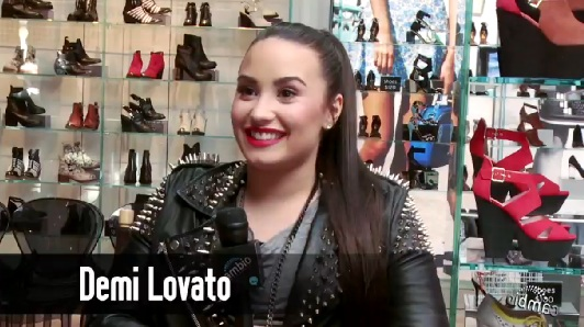 Demi Lovato at the L.A. Top Shop opening