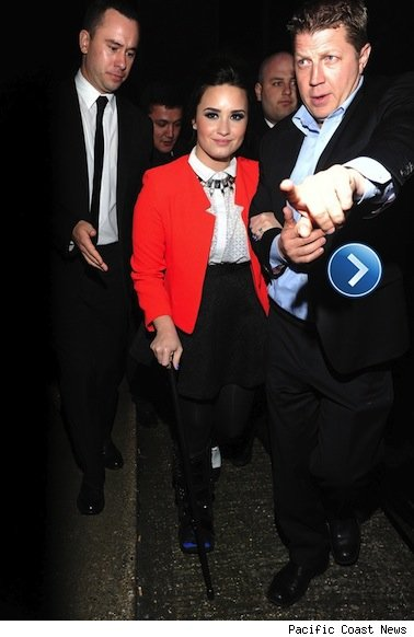 Demi Lovato attends the BRIT Awards after-party.