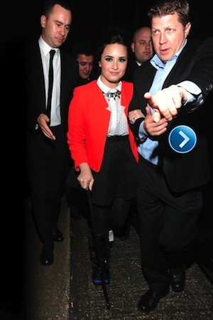 Demi Lovato and Niall Horan attend same party
