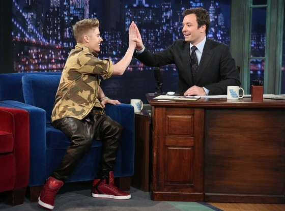 Justin Bieber on Jimmy Fallon