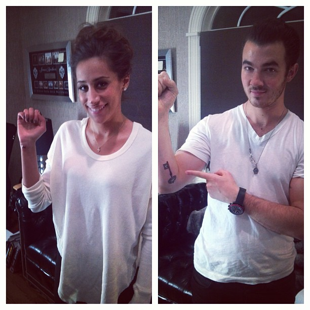 Check out kevin and danielle jonas 39 new tattoos cambio for Nick jonas tattoo
