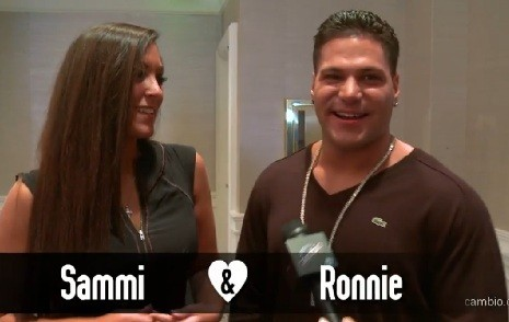 Sammi and Ronnie from 'Jersey Shore'