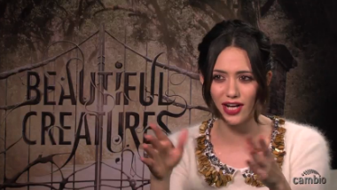 Emmy Rossum at the 'Beautiful Creatures' junket.