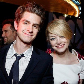 Emma Stone Tweets That Andrew Garfield Is Kissing Who?