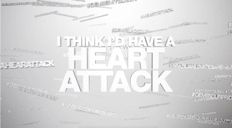 Watch Demi Lovato Heart Attack lyric video