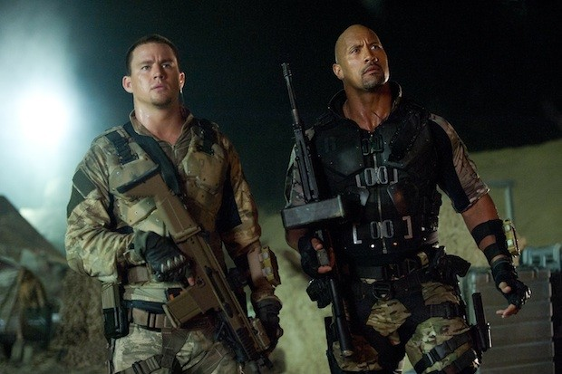Channing Tatum and The Rock in G.I. Joe: Retaliation