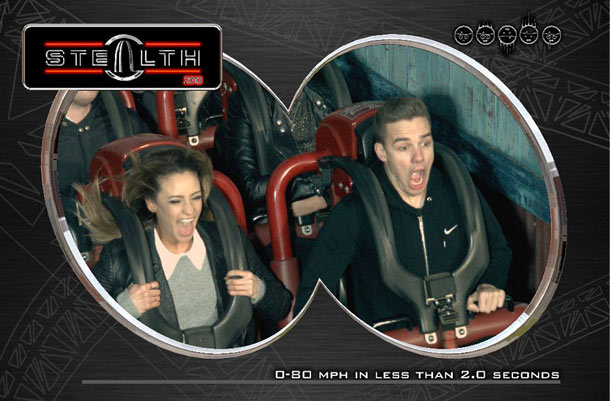 Liam Payne and Danielle Peazer roller coaster pic