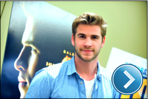 Liam Hemsworth doing press for 'The Hunger Games'