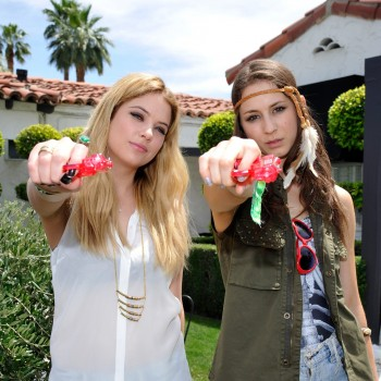 Coachella Day 2: Ashley Benson and Troian Bellisario Make A Splash!