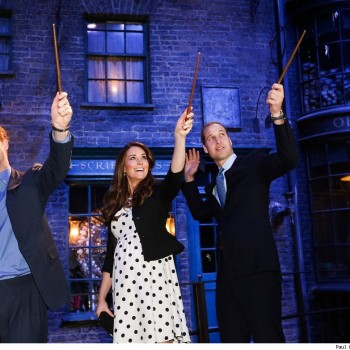 Kate Middleton, Prince William and Harry Visit Harry Potter Exhibit