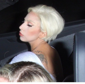 Lady Gaga Parties in L.A., Shows Off New 'Do