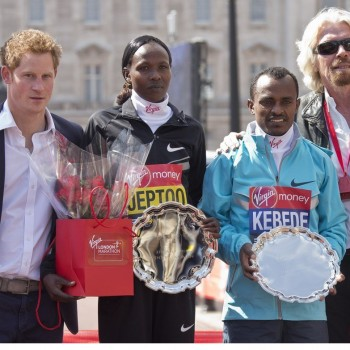 Prince Harry Attends London Marathon, Pays Tribute to Boston Victims