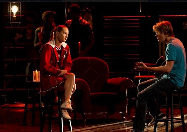 Brittany and Sam on Glee