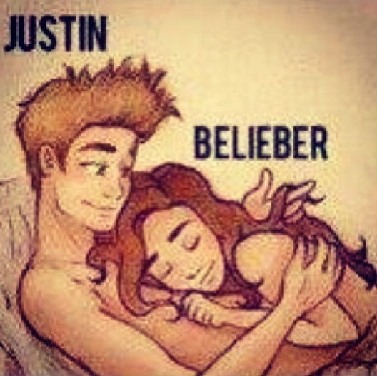 Justin Bieber in bed with Belieber pic