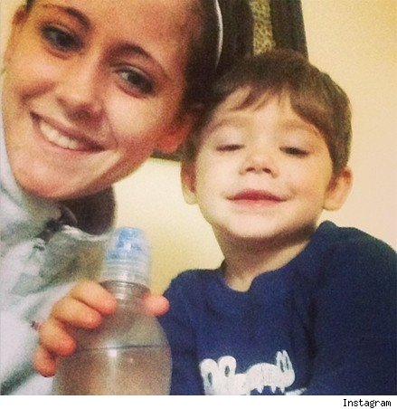 Jenelle Evans and son Jace