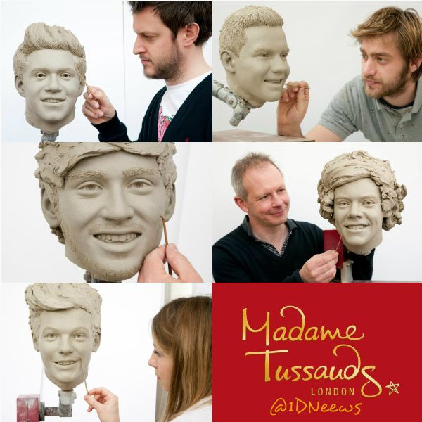 One Direction wax figures Madame Tussauds clay pics