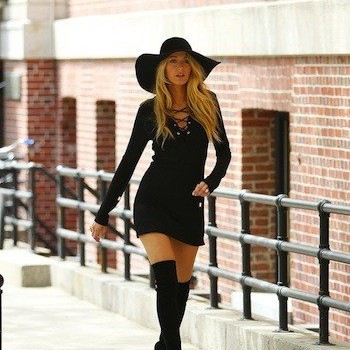 Blake Lively Shows Off Some Leg, Struts Her Stuff at NYC Photo Shoot