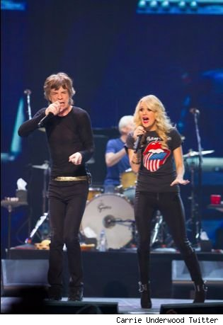 Carrie Underwood Rolling Stones Mick Jagger video