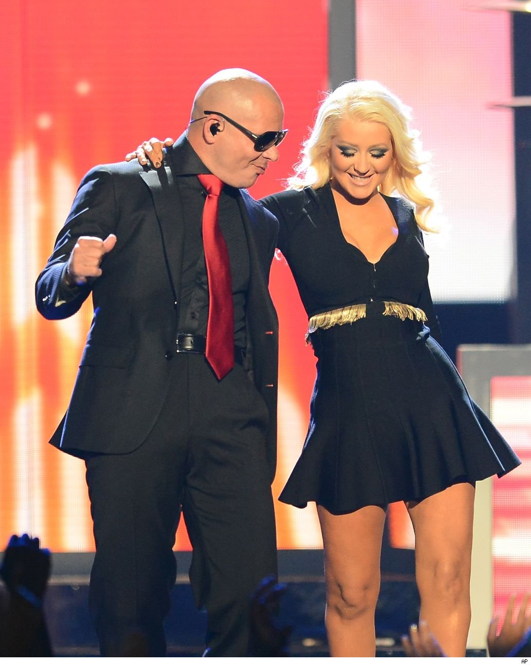 Christina Aguilera weight loss Billboard Music Awards 2013 Pitbull