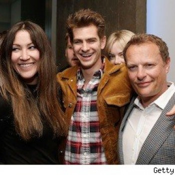 Emma Stone Photobombs Andrew Garfield at Off-Broadway Play Party