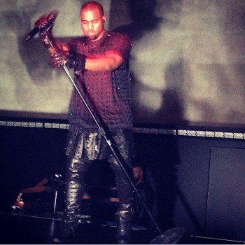 Kanye West Wears A Skirt to Perform at the Met Gala, Serenades Kim Kardashian