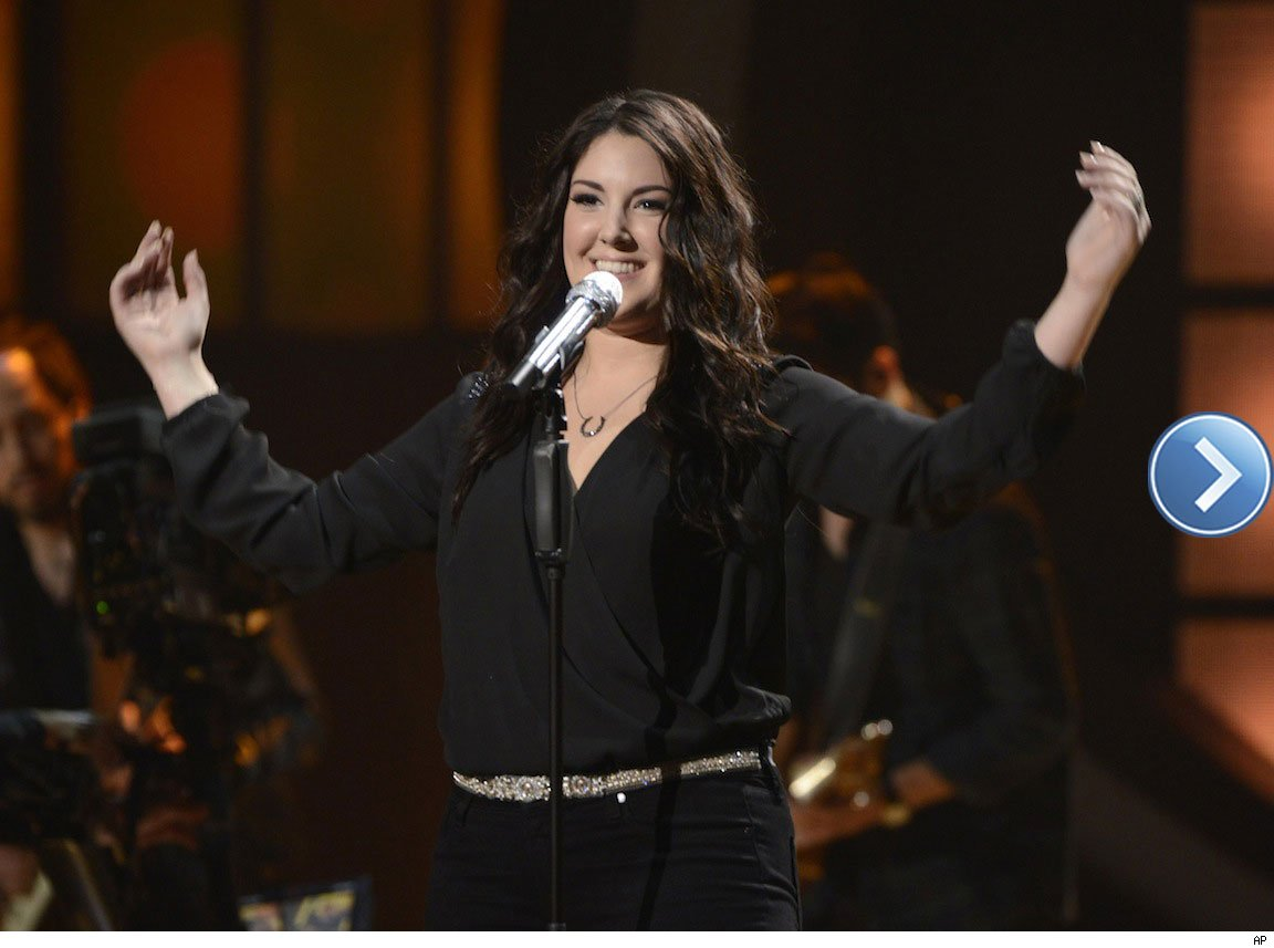 American Idol's Kree Harrison performing on stage.