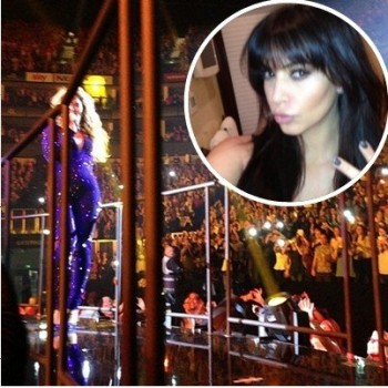 Kim Kardashian Gets the VIP Treatment at Beyonc&Atilde;&copy; Concert