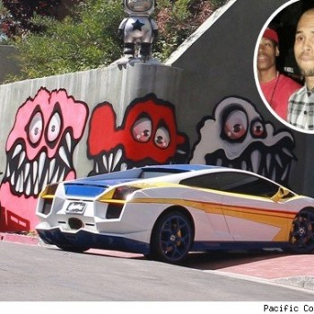 "Chris Brown Fights to Keep Wall ""Art,"" Tells Neighbors to ""Get a F*cking Life"""