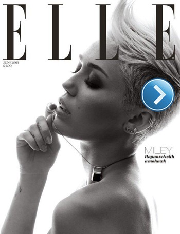 Miley Cyrus 'Elle' cover