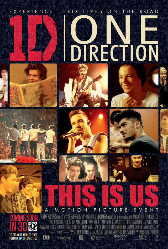 One Direction This Is Us movie poster digital mosaic