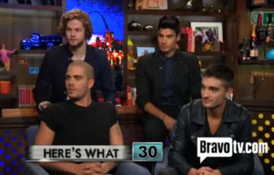 The Wanted Max George Louis Tomlinson gay One Direction Watch What Happens Live video