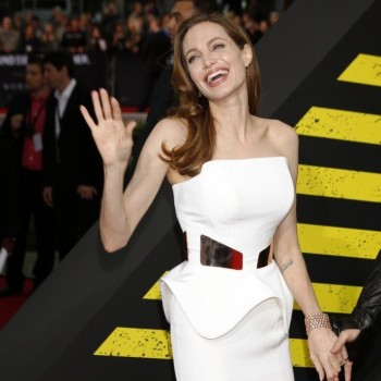 Angelina Jolie Wears Bracelet Designed by Brad Pitt