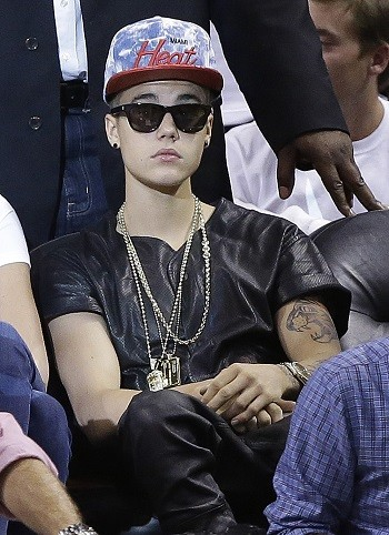 Justin Bieber at Miami Heat Game 7