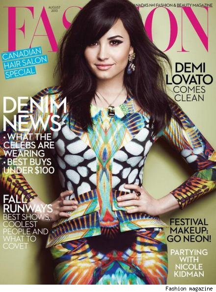 Demi Lovato Fashion magazine cover X Factor bullies la role model