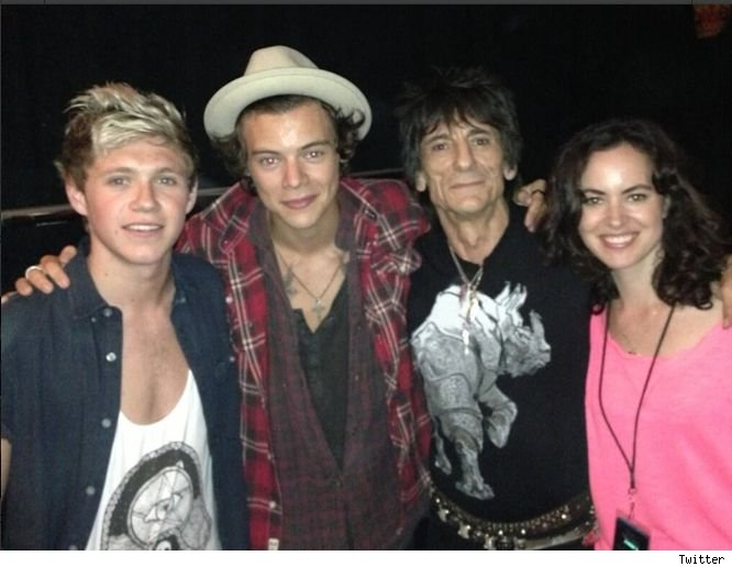 Harry Styles Niall Horan Ronnie Wood Rolling Stones concert