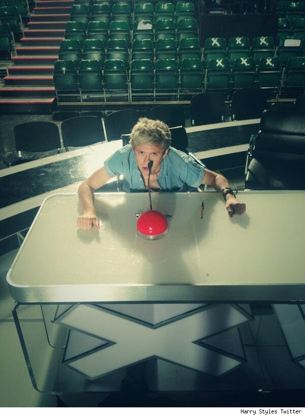 Niall Horan Britains Got Talent judges table pic